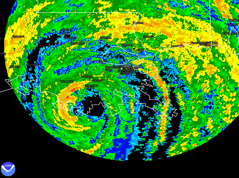 Gustav Radar Landfall Close