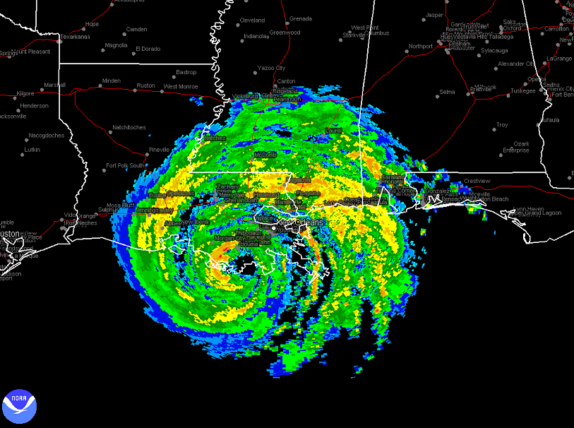 Gustav Radar Landfall Far